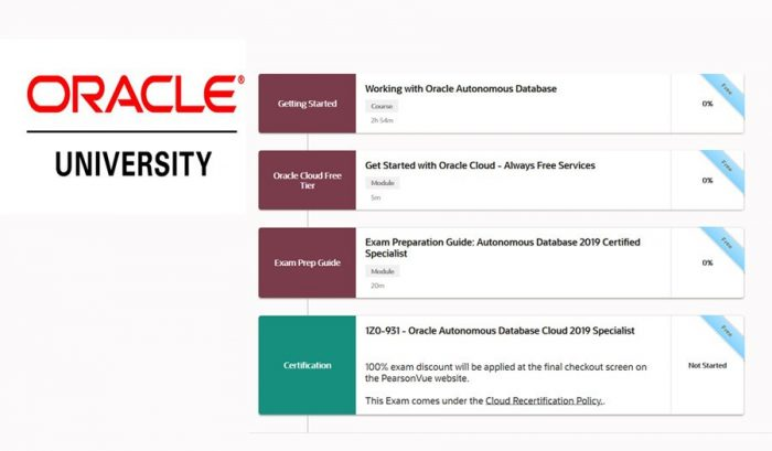 Oracle University offers 6 Free Online Learning and Certifications