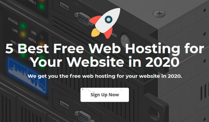 5 Best Free Web Hosting for Your Website in 2020