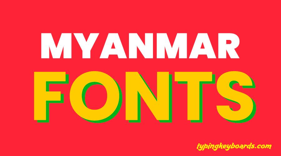 Myanmar Fonts 1