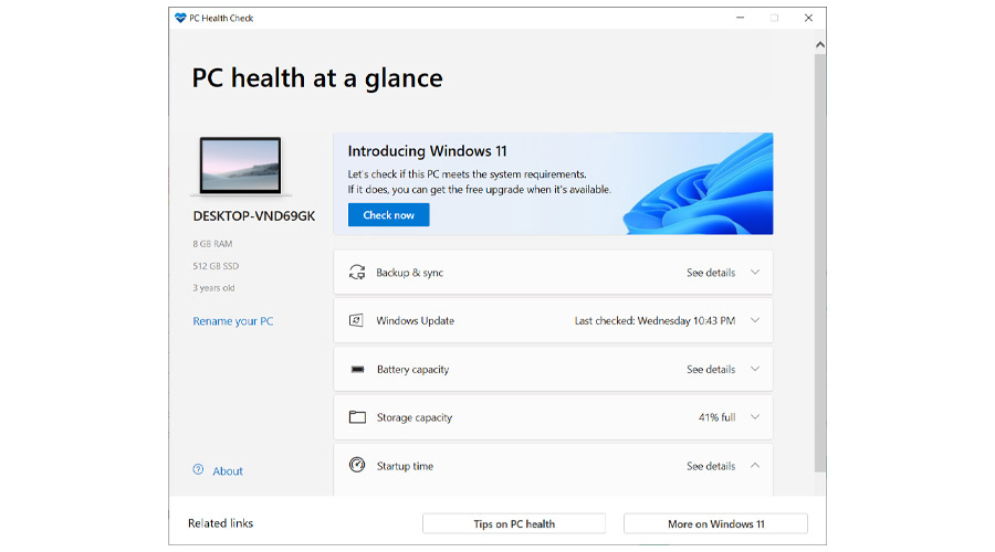 Download PC Health Check app to install Windows 11 1